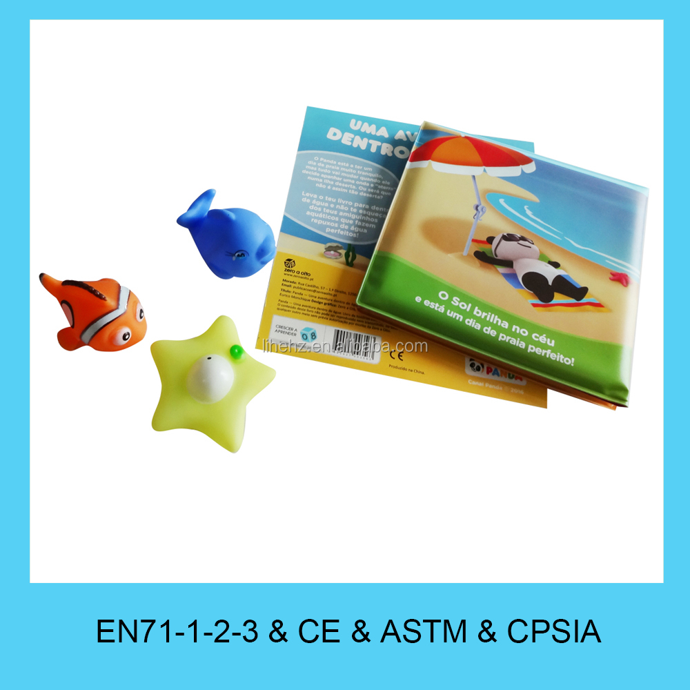 Eco-friendly custom design educational toys for kids baby Bath Book
