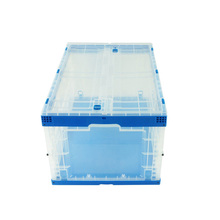 80 L integral hinged lid with a door plastic container/totes/box/crate