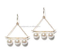 Fine jewelry pearls earrings