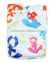 One Size Baby Printing Diapers With Inserts