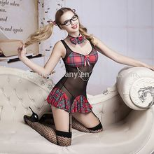 Wholesale Sexy Lingerie Lovely Private School Girl Dress Tie Panty Adult Women Costume