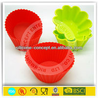 flower shape silicone cupcake form