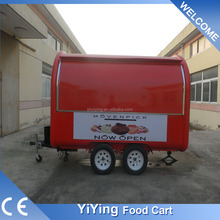 FR300B Yiying factory made brand new mobile bakery electric tricycle food hot dog vending cart trailer for sale