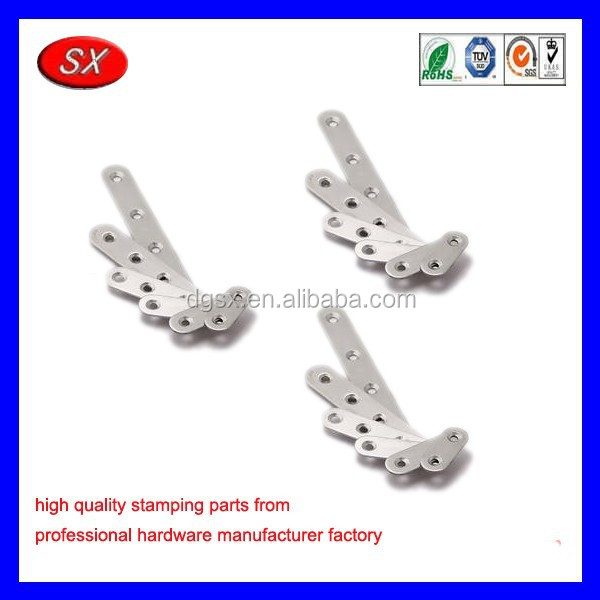 customized stainless steel cloakroom plate fittings ,metal stamped part flat brackt furniture corner bracket
