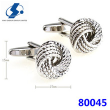Modern Knot Elastic Silk High Quality Men Cufflinks