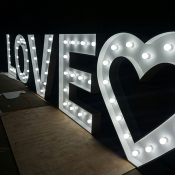 Cheap Price 5ft Love Large Giant Letters To Buy Light Up Signs For Sale