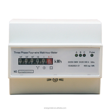 Three Phase din rail electronic Active Energy Meter