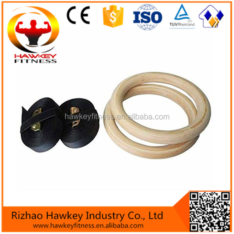 Wholesale High Quality Eco-friendly Wooden Gym Ring