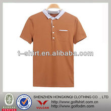 men's collar t shirts brown soft cotton