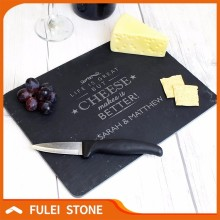 Wholesale price personalised natural slate cheese board
