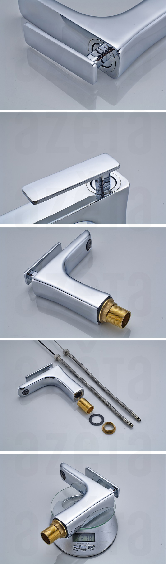 Sanitary Brass Hot Cold Water Saving Wash Basin Water Tap
