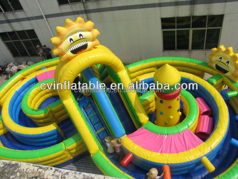 Commercial children park inflatable obstacle course,cheap obstacle course equipment,outdoor inflatable interactive game on sale