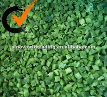 frozen green capsicum diced