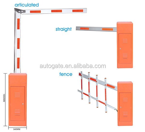 high safty remote control barrier boom gate straight boom barrier