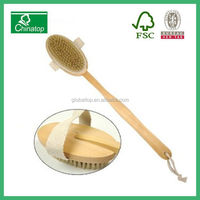 Natural Long Wood Massager Bath Shower Back Spa Scrubber Wooden Body Brush