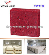 Red Colored Artificial Marble Stone Building Benchtop Materials From China