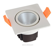 15degree 24degree anti-glare white CRI80 6W 12W 20W square cob led recessed spot downlight