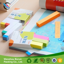 Eco-friendly custom memo pad decorative sticky notes in different shapes for book