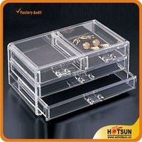 Hot Sale Commercial Wholesale Acrylic Used Portable Jewelry Store Showcases Display Cases