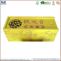 Customized wholesale antique handmade natural small wooden tea box