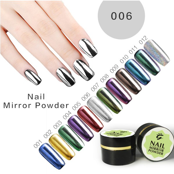 Products for women chrome mirror effect pigment powder nail
