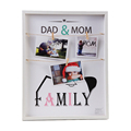 Wood Photo Display Hanging Picture Frame of 3 Photos-show the Sweetest of Your Family
