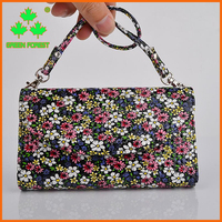 Fashion Bling Flower Multipurpose Crossbody Bag Porcelain Leather Pouch Wallet Case for iPhone 6s