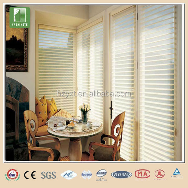 Morden roller shangri-la fabrics blinds side tracks