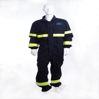 High visibility flame resistant and antistatic coverall for oil with EN ISO 11612