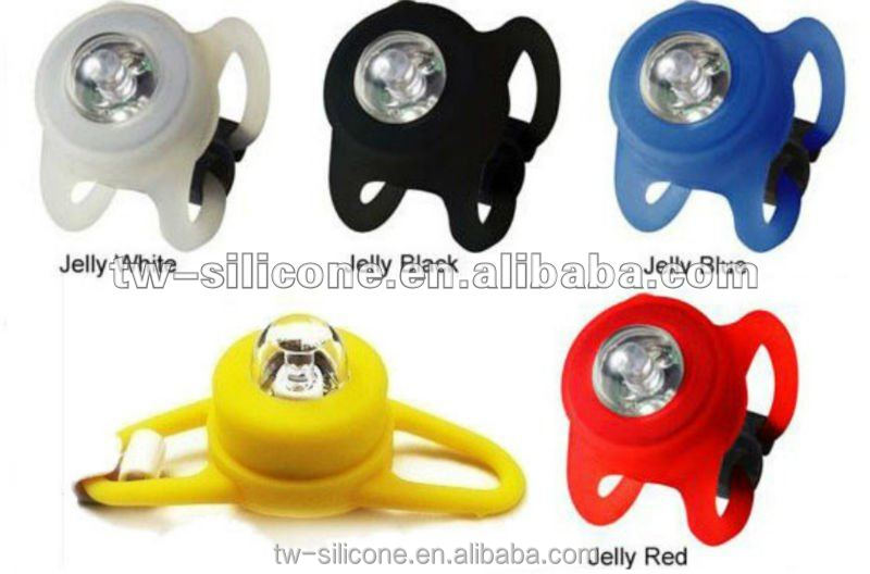 LED silicone rubber mountain bike light LED bycicle lights