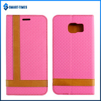 [Smart Times] Waterproof Automatic Adsorption Texture Phone Case with Bracket for Galaxy S6