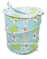 Collapsible duck pattern pop up laundry hamper