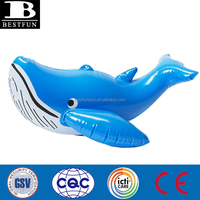 inflatable blue whale for water play inflatable bouncy animal toys plastic blue whale for kids