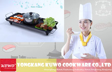 Steak Pancake Hotplate High efficiency Electric BBQ grill Combined With Hot Pot