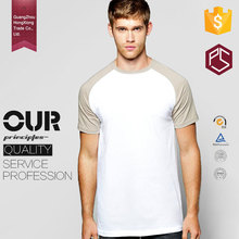 GuangZhou Professional Suppliers OEM 100% cotton Round Neck Two Colours Men Raglan t shirt