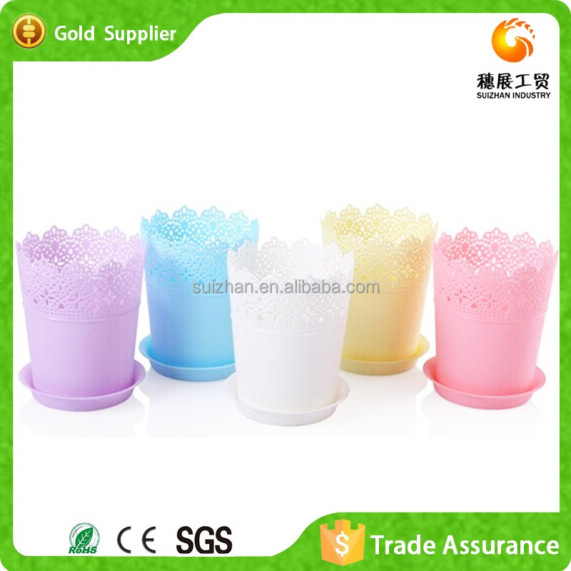 Wholesale Price Plastic Colored Artificial Potted Orchids