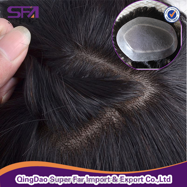 Fine Welded Mono Men wigs , hair system for men , men's toupee hairpieces