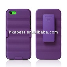 Shockproof Hybird Impact Case For iPhone 5C,For iPhone 5C Heavy duty Combo Case With Stand