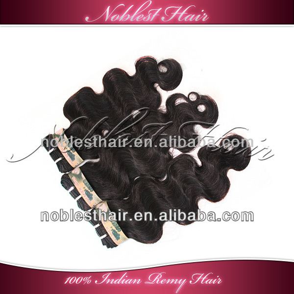 loose wavy indian remy hair machine weft natural color body wave hair weaving 4oz/pack