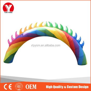 manufacturer wholesale custom inflatable rainbow arch