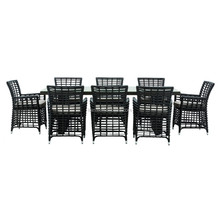 Wicker stools dining set outdoor chair miami rattan furniture