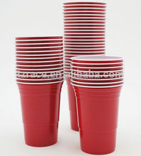 Clear Red Plastic Cups 16oz Disposable Party Red Solo Cups