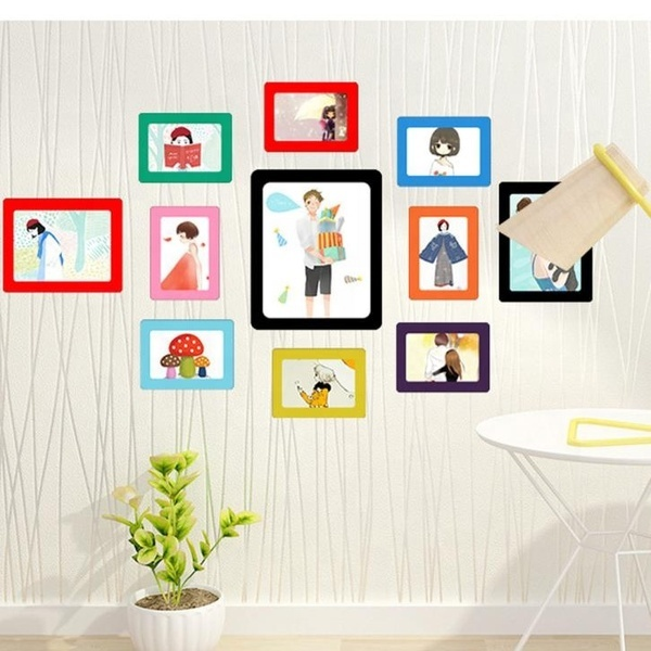 High Quality Durable Soft Rubber PVC Hanging Double Layer Photo Frame Magnet Anyplace