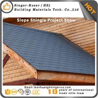 Residential cheap roofing material, 2.7mm quality fiberglass asphalt shingles roof
