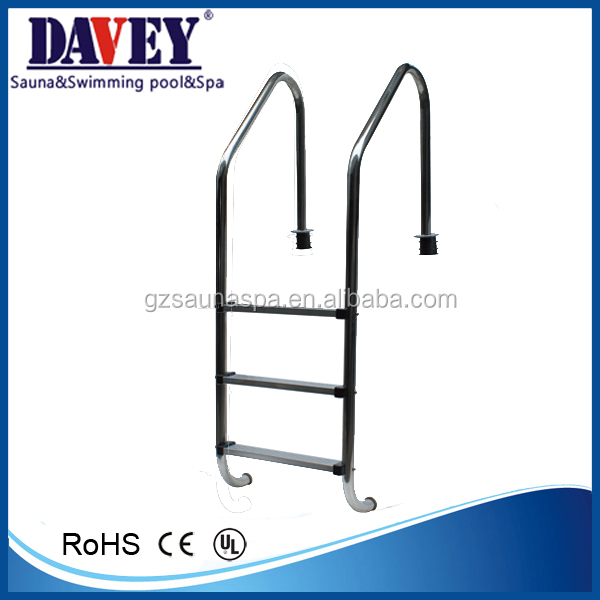 Customized 304 316 Three Steps Swimming Pool Handrail Stainless Steel Pool Ladder Buy