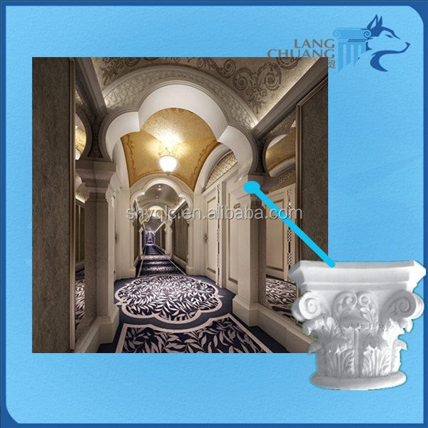Shopping Mall Easy-Clean Plaster Roman Column Capitals