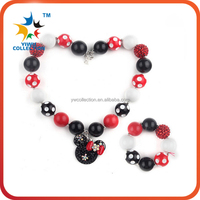 Wholesale girls beads pearl necklace and bracelet sets