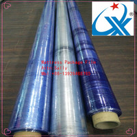india hot sale and factory blue and crystal pvc film mattress cover