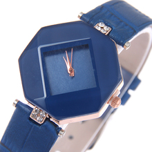 Promotional leather waterproof watch women ladies vogue diamond watch for girl