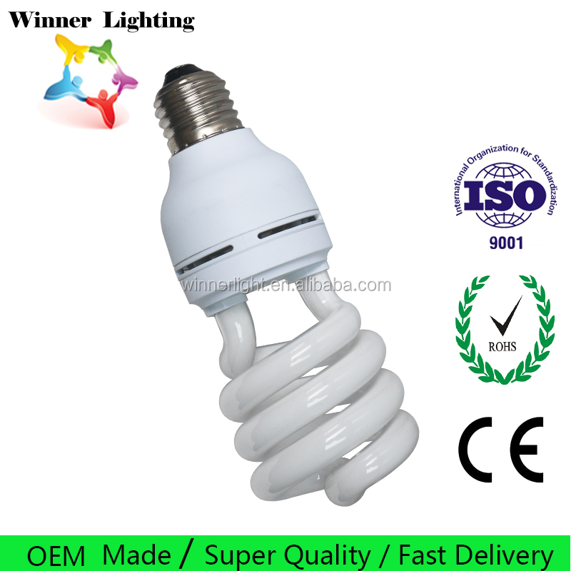10000k fluorescent lamp cfl half spiral energy saving bulb hangzhou linan lighting bulbs